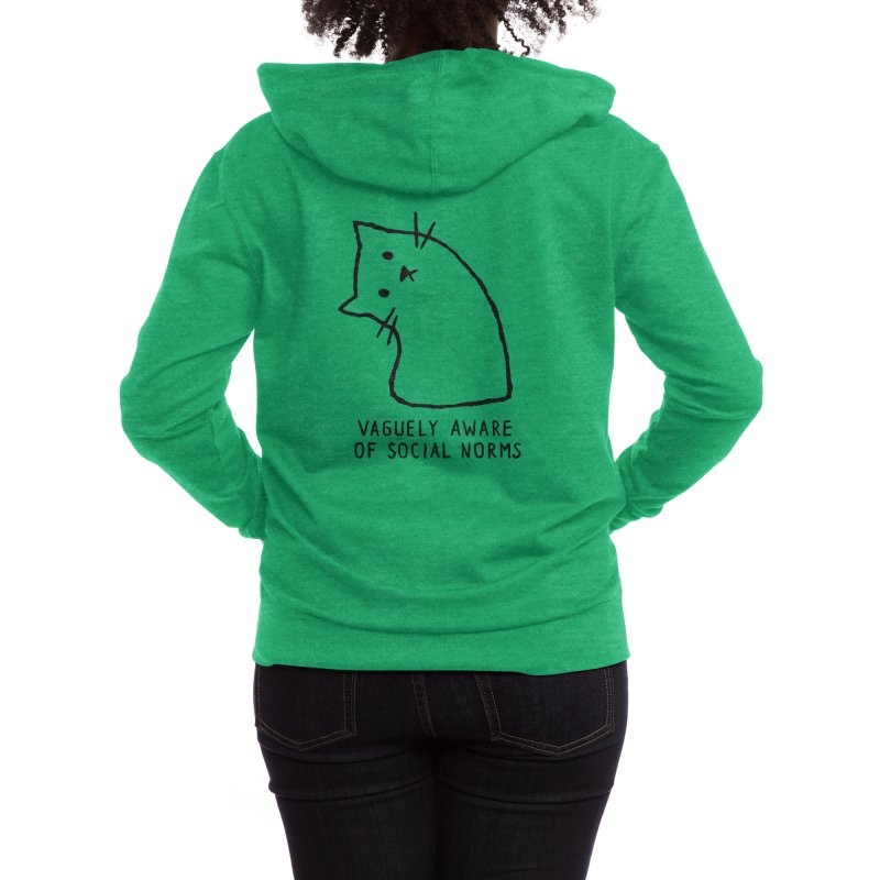 Vaguely Aware of Social Norms Women's Zip-Up Hoody by Threadless Artist Shop