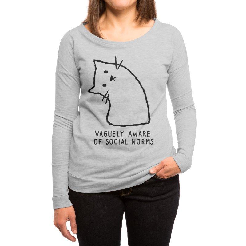 Vaguely Aware of Social Norms Women's Longsleeve T-Shirt by Threadless Artist Shop