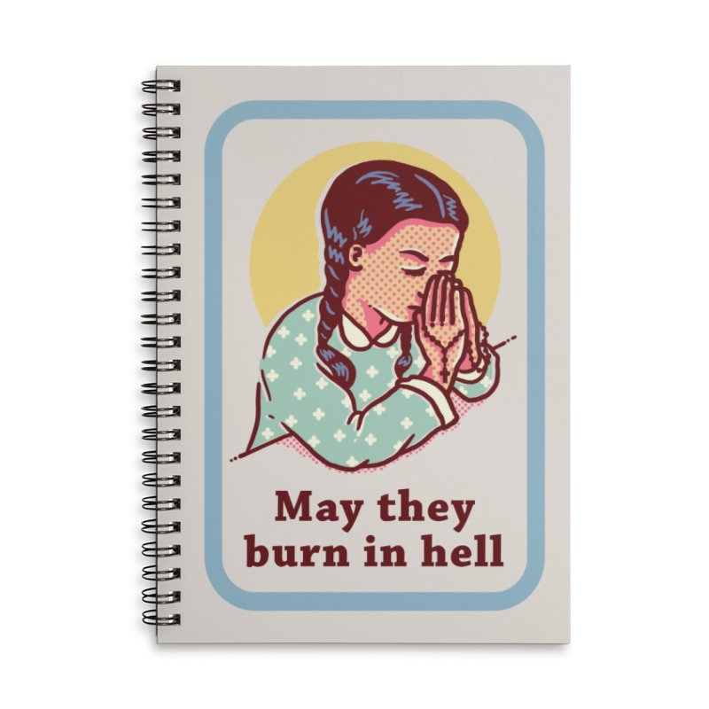 Burn in Hell Accessories Notebook by Threadless Artist Shop
