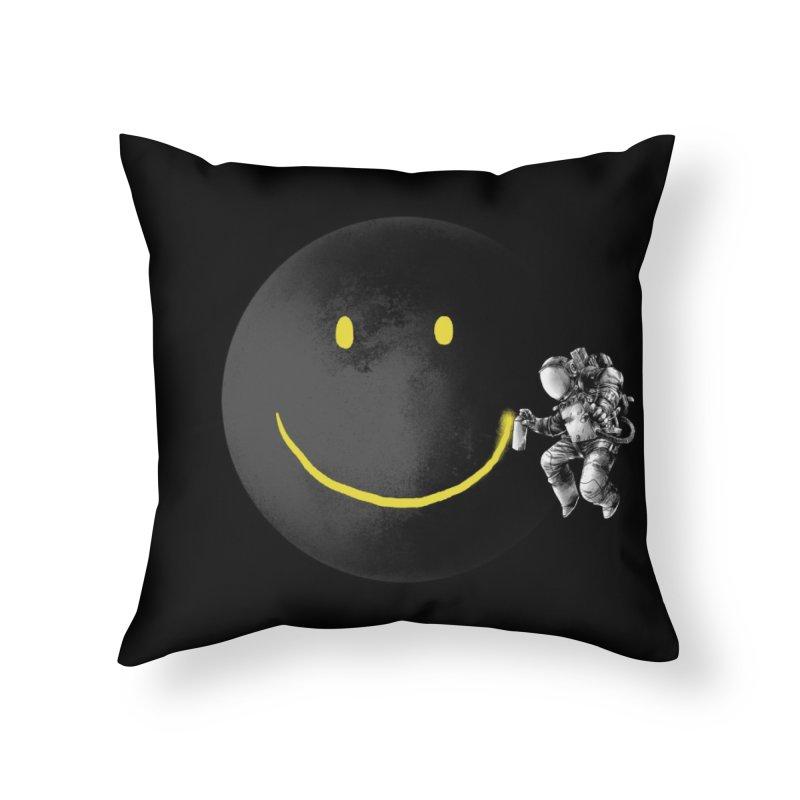 Make a Smile Home Throw Pillow by Threadless Artist Shop
