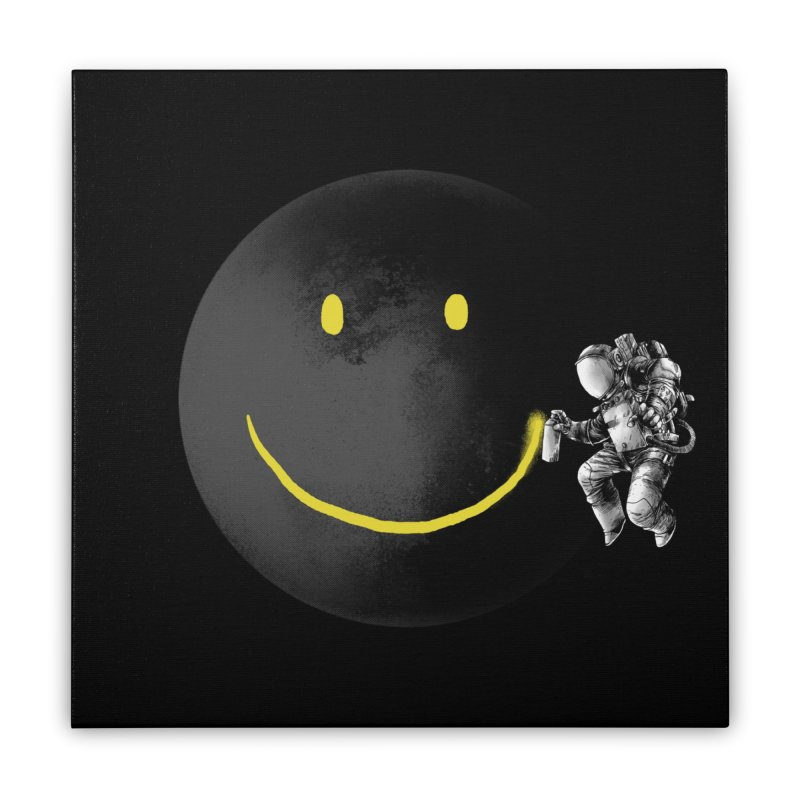 Make a Smile Home Stretched Canvas by Threadless Artist Shop