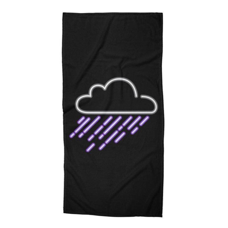 Purple Rain Accessories Beach Towel by Threadless Artist Shop