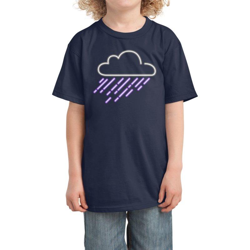 Purple Rain Kids T-Shirt by Threadless Artist Shop