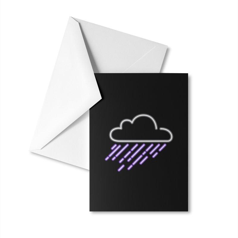 Purple Rain Accessories Greeting Card by Threadless Artist Shop