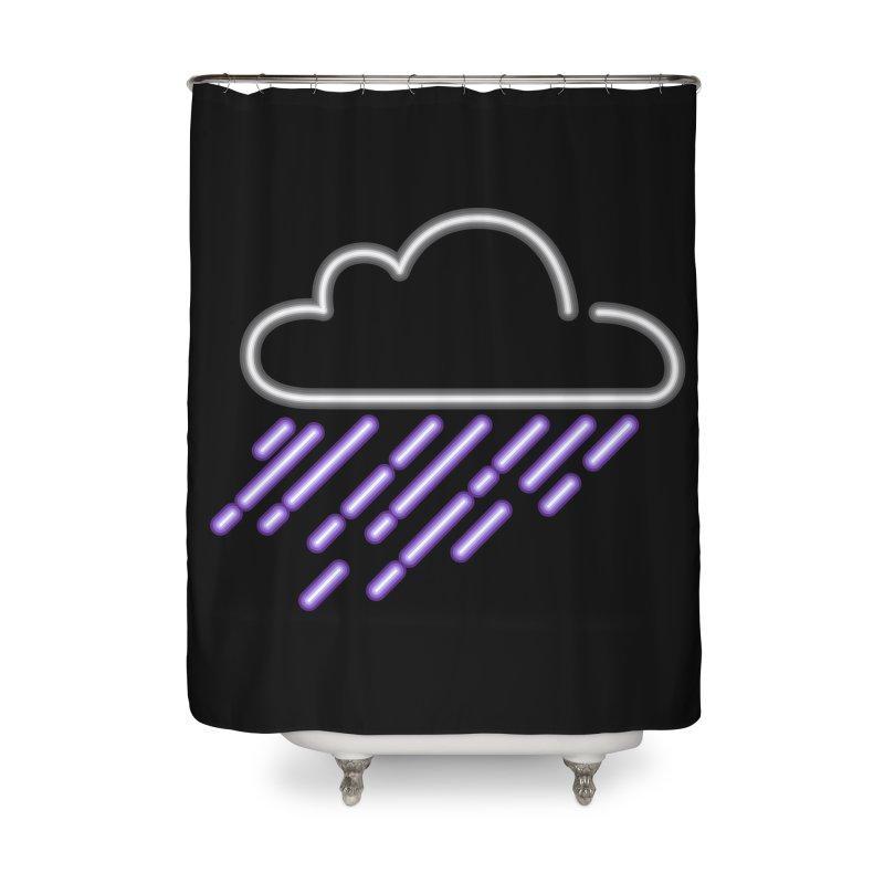 Purple Rain Home Shower Curtain by Threadless Artist Shop