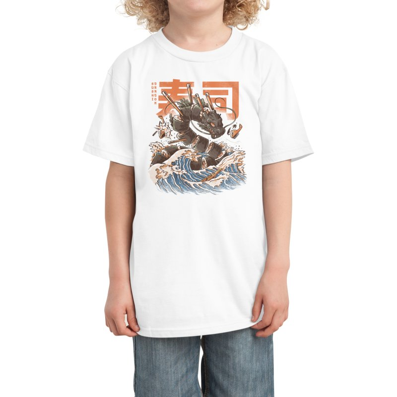 Great Sushi Dragon Kids T-Shirt by Threadless Artist Shop