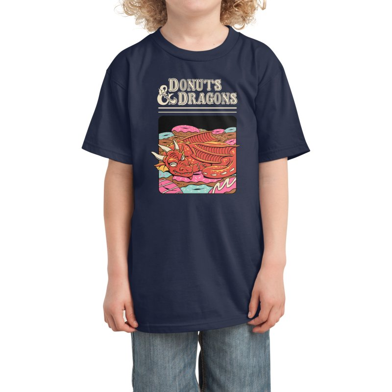 Donuts and Dragons Kids T-Shirt by Threadless Artist Shop