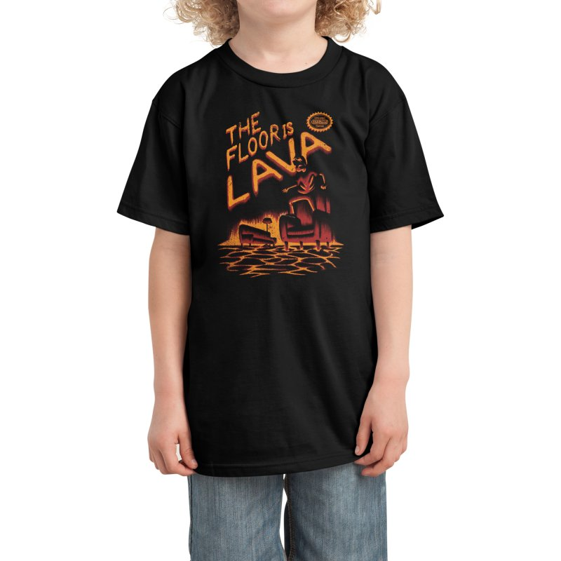 The Floor is Lava Kids T-Shirt by Threadless Artist Shop
