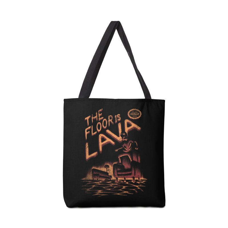 The Floor is Lava Accessories Bag by Threadless Artist Shop