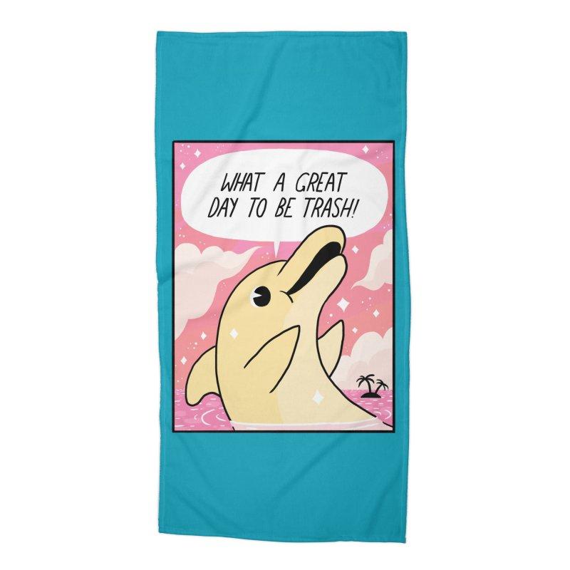 Trash Dolphin Accessories Beach Towel by Threadless Artist Shop