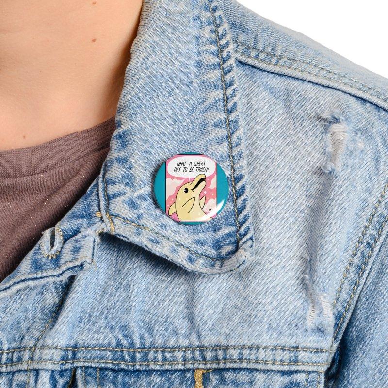 Trash Dolphin Accessories Button by Threadless Artist Shop