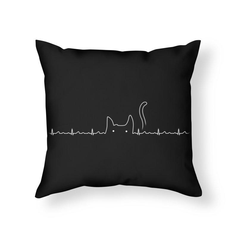 Cat Lover Home Throw Pillow by Threadless Artist Shop