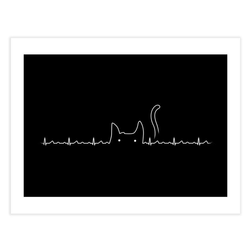 Cat Lover Home Fine Art Print by Threadless Artist Shop