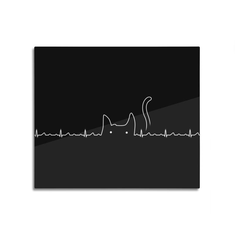 Cat Lover Home Mounted Aluminum Print by Threadless Artist Shop