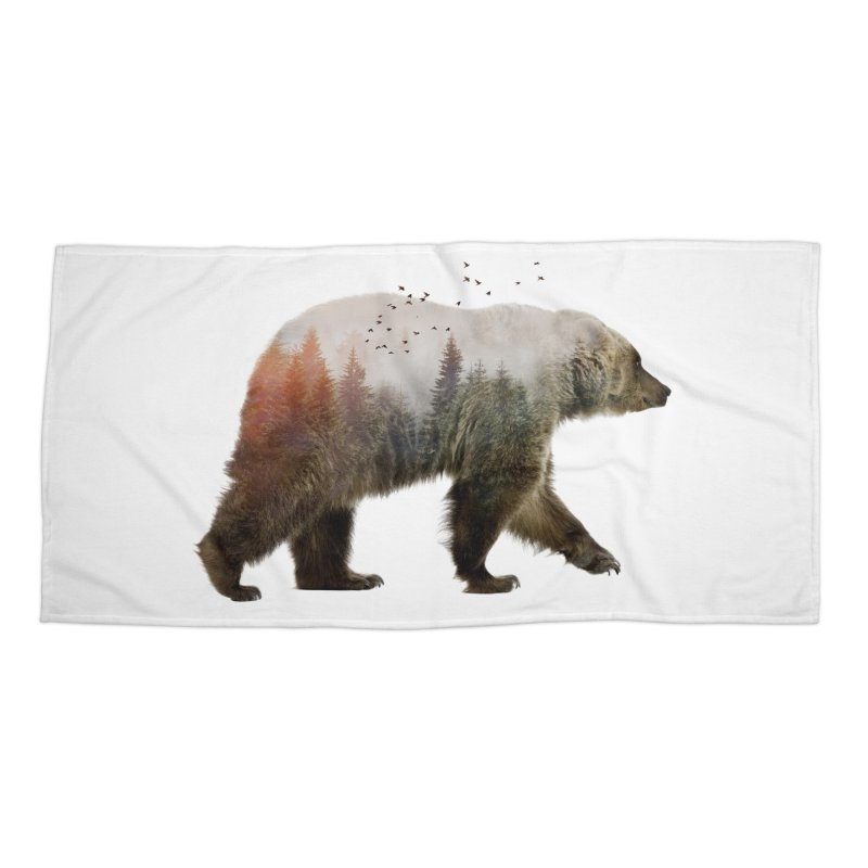 Bear Accessories Beach Towel by Threadless Artist Shop