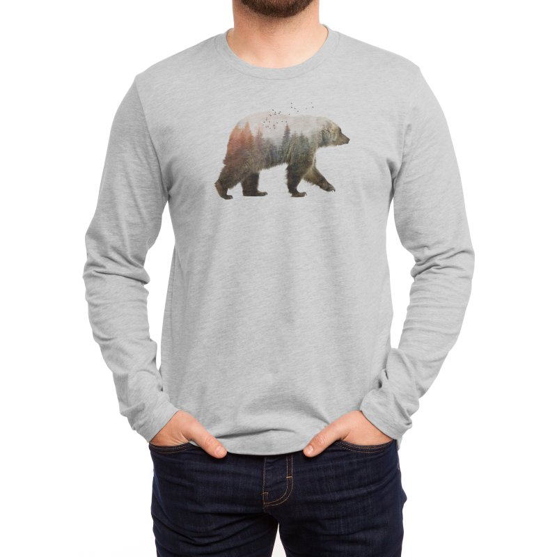 Bear Men's Longsleeve T-Shirt by Threadless Artist Shop