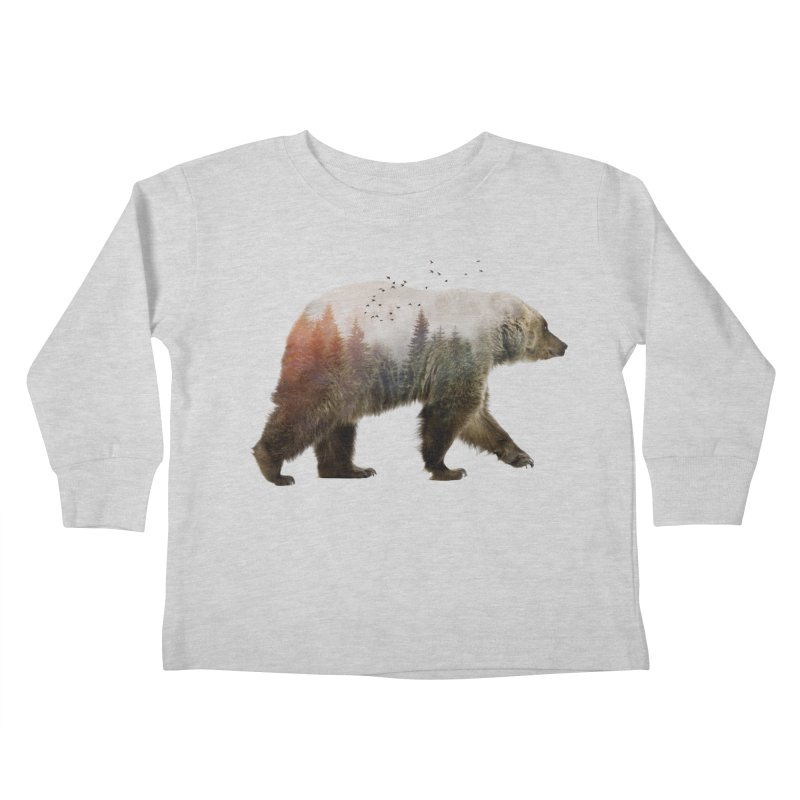 Bear Kids Toddler Longsleeve T-Shirt by Threadless Artist Shop