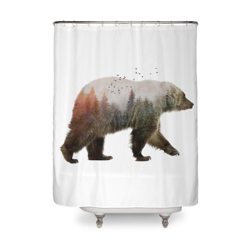 Bear Home Shower Curtain by Threadless Artist Shop