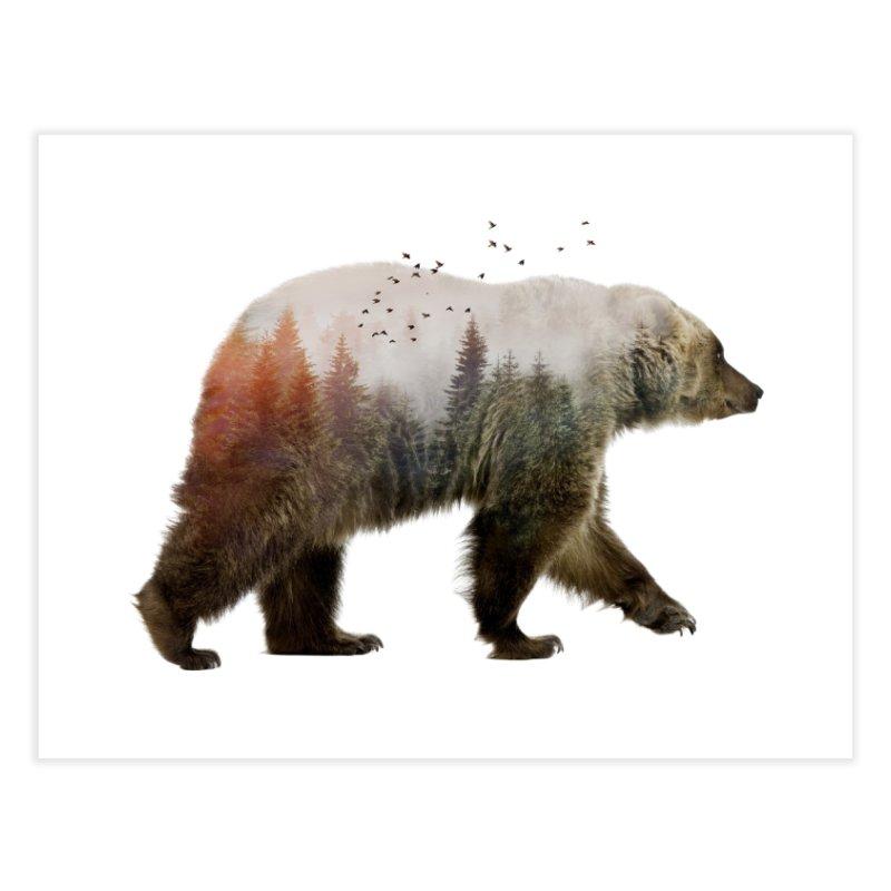 Bear Home Fine Art Print by Threadless Artist Shop