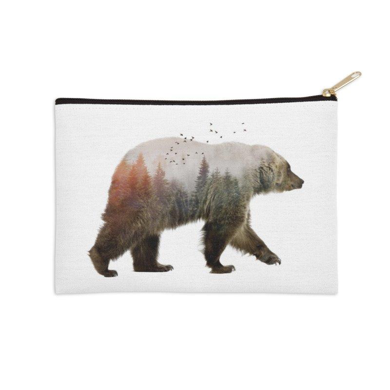 Bear Accessories Zip Pouch by Threadless Artist Shop