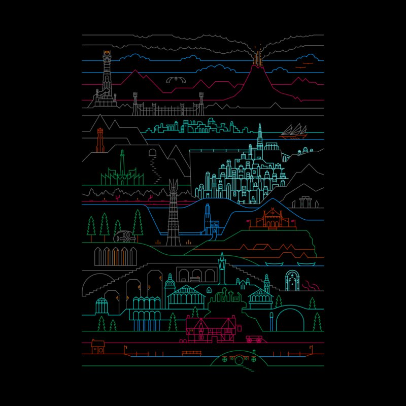 Epic Story Line Home Tapestry by Threadless Artist Shop