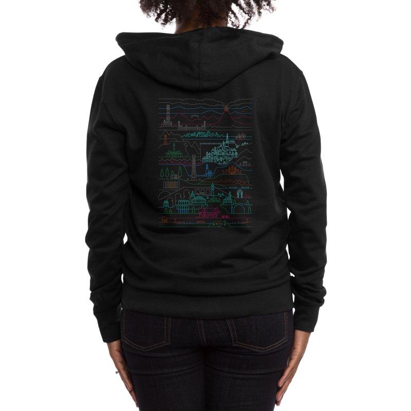 Epic Story Line Women's Zip-Up Hoody by Threadless Artist Shop