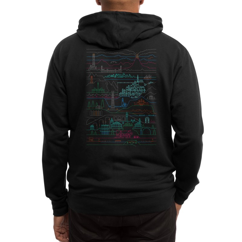Epic Story Line Men's Zip-Up Hoody by Threadless Artist Shop