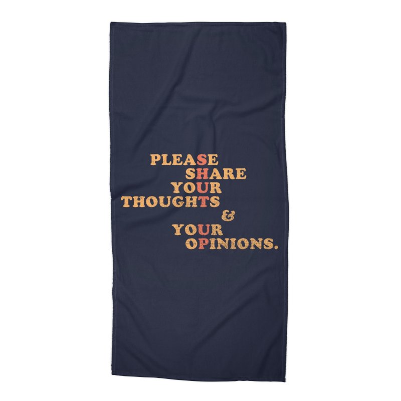 Shut Up And Talk Accessories Beach Towel by Threadless Artist Shop