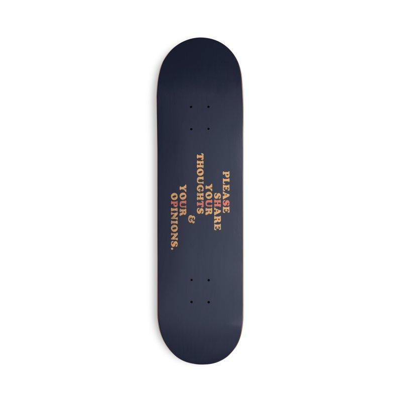 Shut Up And Talk Accessories Skateboard by Threadless Artist Shop
