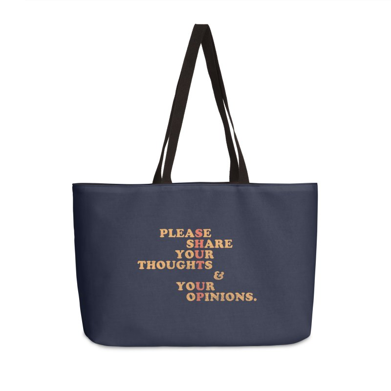 Shut Up And Talk Accessories Bag by Threadless Artist Shop