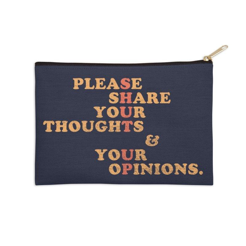 Shut Up And Talk Accessories Zip Pouch by Threadless Artist Shop