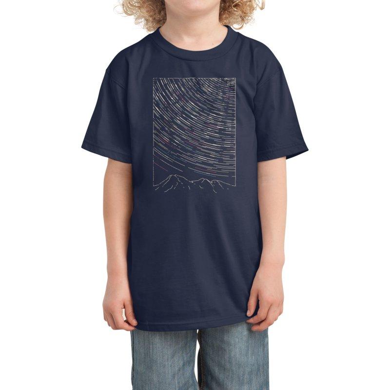Star Trails Kids T-Shirt by Threadless Artist Shop
