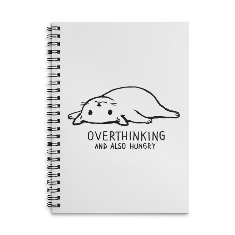 Overthinking and also Hungry Accessories Notebook by Threadless Artist Shop