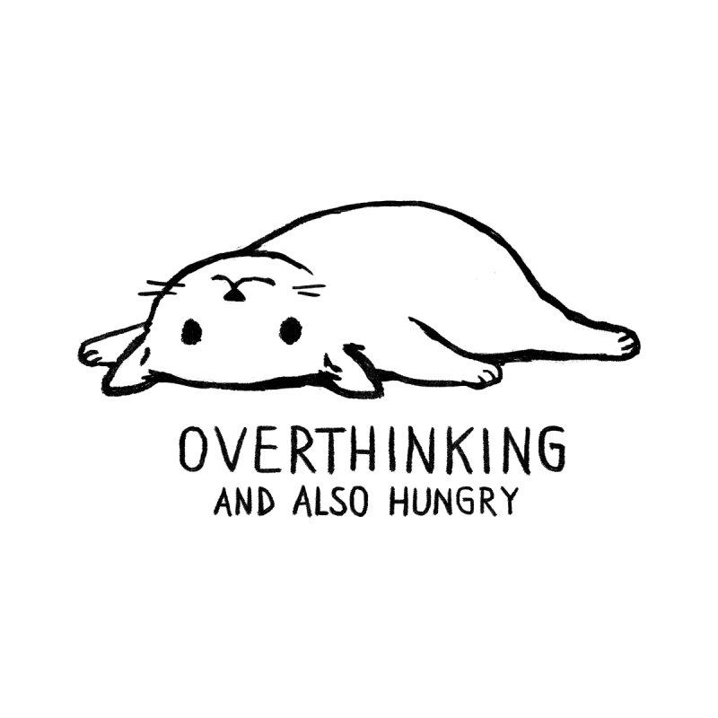 Overthinking and also Hungry Men's T-Shirt by Threadless Artist Shop