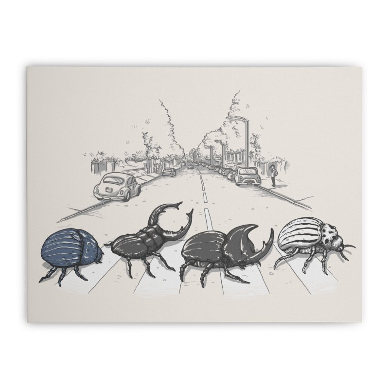 The Beetles Home Stretched Canvas by Threadless Artist Shop