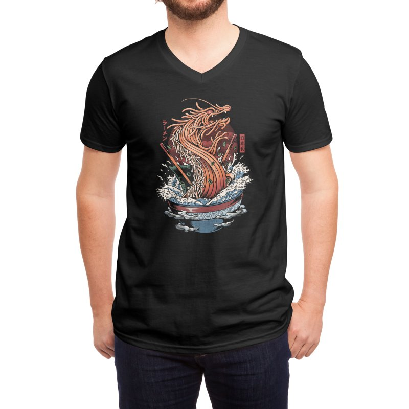 Ramen Dragon Men's V-Neck by Threadless Artist Shop