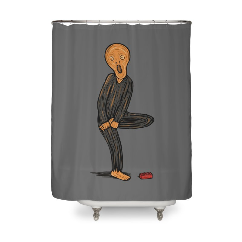The Scream Of Pain! Home Shower Curtain by Threadless Artist Shop