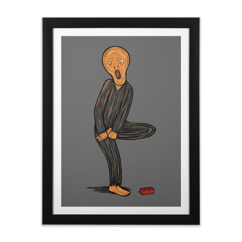 The Scream Of Pain! Home Framed Fine Art Print by Threadless Artist Shop