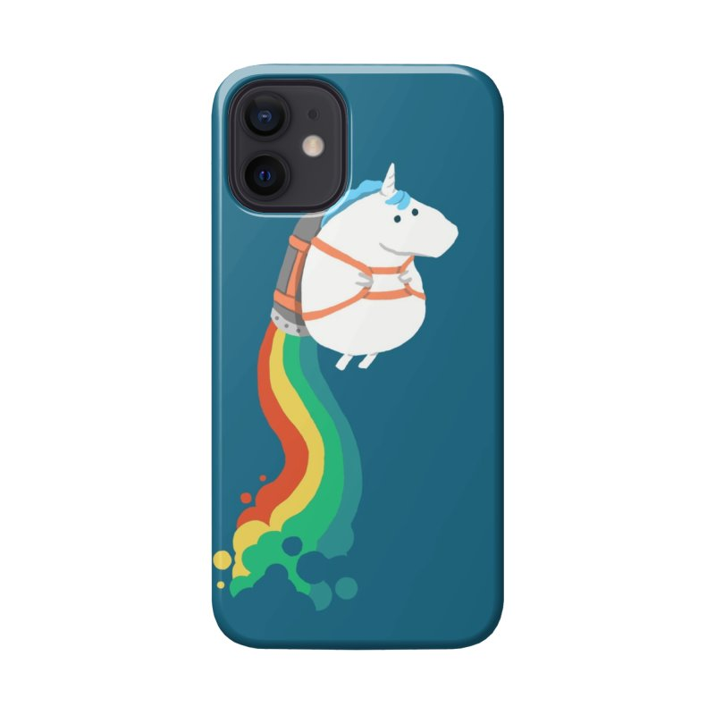 Fat Unicorn on Rainbow Jetpack Accessories Phone Case by Threadless Artist Shop