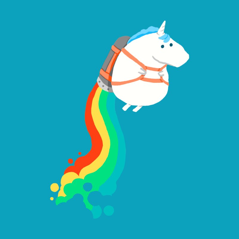 Fat Unicorn on Rainbow Jetpack Accessories Bag by Threadless Artist Shop