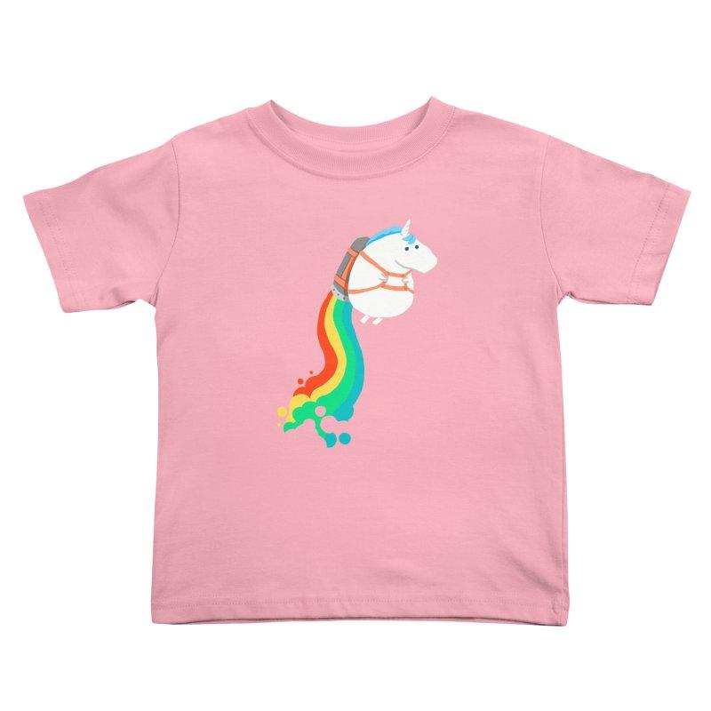 Fat Unicorn on Rainbow Jetpack Kids Toddler T-Shirt by Threadless Artist Shop