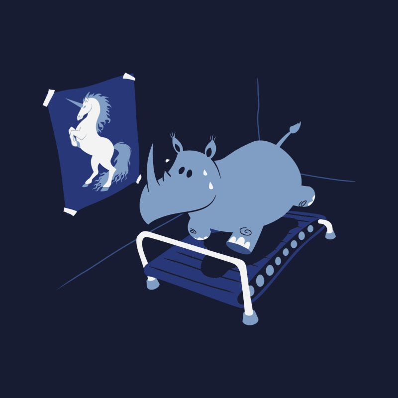 Runnin' Rhino Men's T-Shirt by Threadless Artist Shop