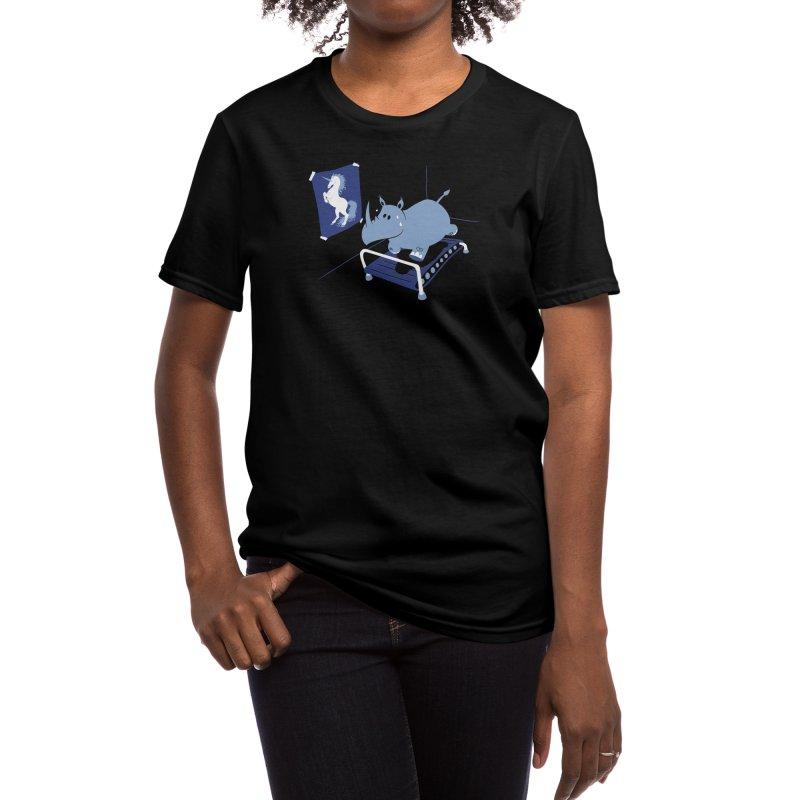 Runnin' Rhino Women's T-Shirt by Threadless Artist Shop