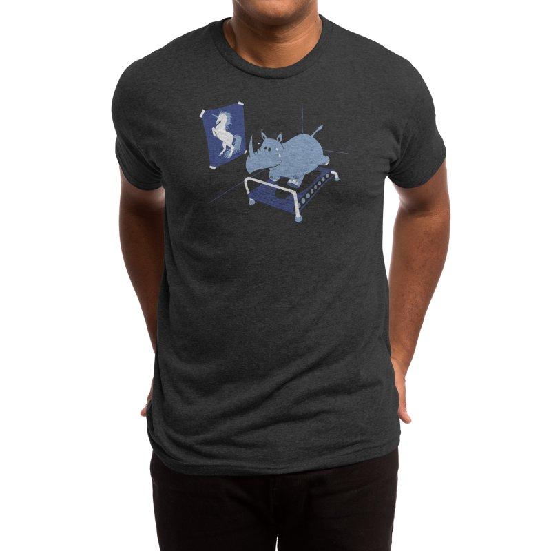 Runnin' Rhino Men's T-Shirt by Threadless Artist Shop