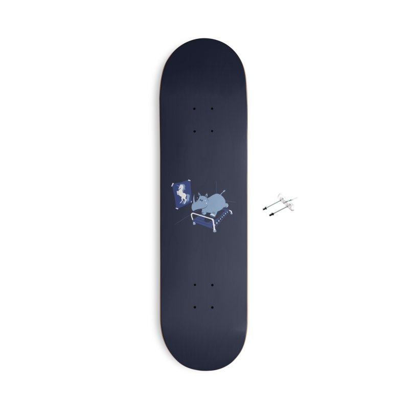 Runnin' Rhino Accessories Skateboard by Threadless Artist Shop