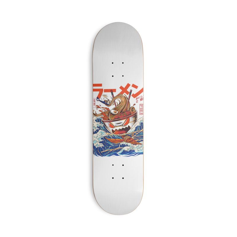 The Great Ramen off Kanagawa Accessories Skateboard by Threadless Artist Shop