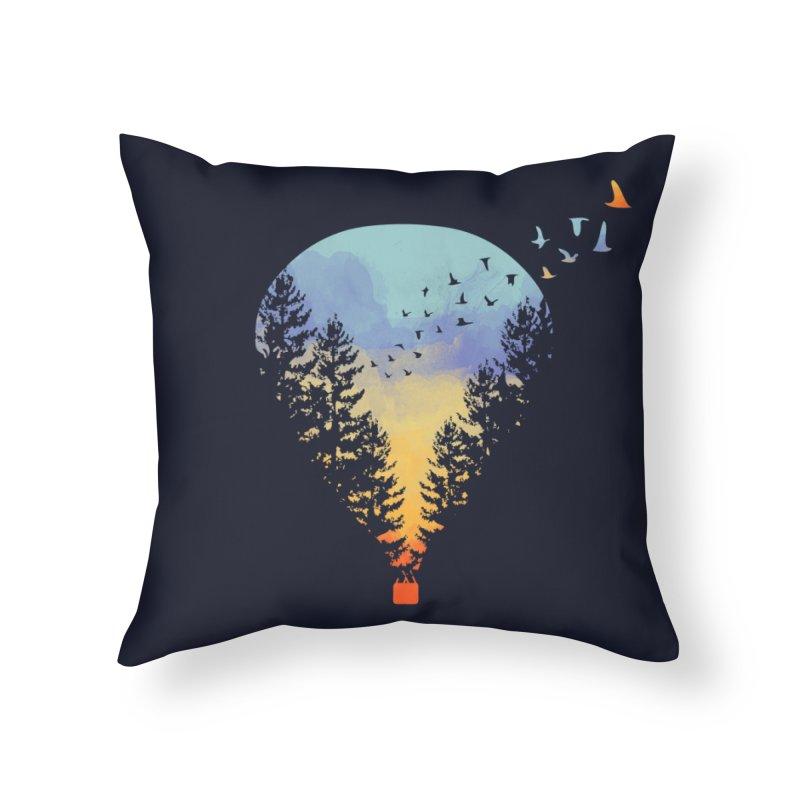 Flying Far Far Away Home Throw Pillow by Threadless Artist Shop