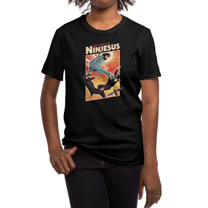 Ninjesus Women's T-Shirt by Threadless Artist Shop