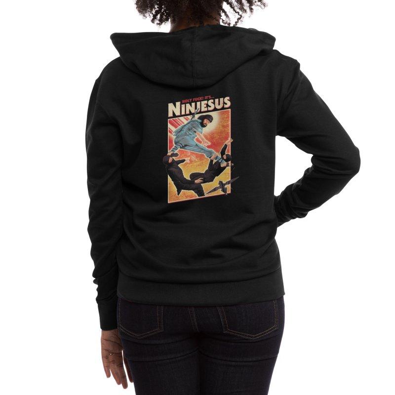 Ninjesus Women's Zip-Up Hoody by Threadless Artist Shop
