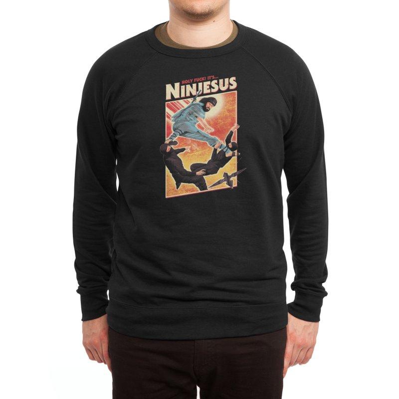 Ninjesus Men's Sweatshirt by Threadless Artist Shop